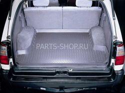 Коврик в багажник LC80 (беж., черн.) резино-пластик