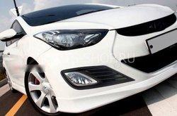 Накладки на туманки Hyundai Elantra черные