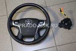 Руль для LC200 в стиле 2019 (руль, кнопки мультимедиа руля+airbag)