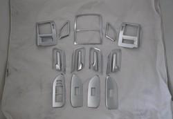 Отделка салона под хром Toyota LC Prado 150 (комплект 17 предметов)