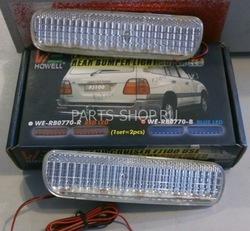 Катафоты в задний бампер LC100/LX470 диодные (красные, белые)