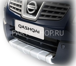 Накладка на передний бампер Qashqai