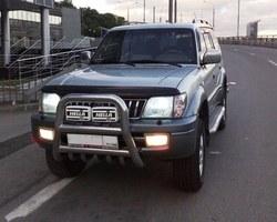 Тюнинг Toyota Prado 90 кенгурятник из нержавеющей стали