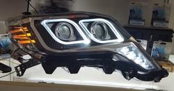 Фары передние линзовые LC150 с ходовыми огнями