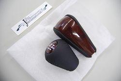 Насадка LC120 ручки переключения скоростей кожа-дерево (комплект)