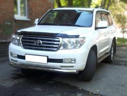 Защита переднего бампера Toyota Land Cruiser 200