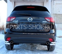 Защита задняя двойная на Mazda CX-5