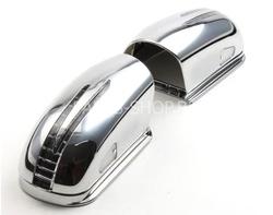 Корпуса зеркал Mercedes E-class стиль SL с повторителем поворота и подсветкой снизу хромированные