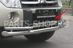 Защита переднего бампера двойная Pajero 2007-