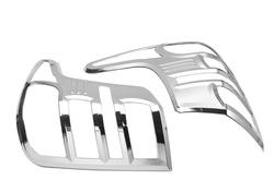 Накладки хром на задние фонари L200 15-20