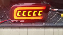 Задние противотуманные фонари lc150, с динамическим поворотником