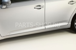 Молдинги боковые на двери хромированные для Avensis