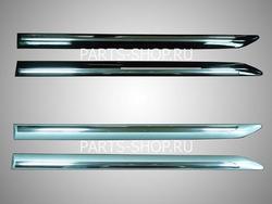 Молдинги на двери цвет: серебро, черный с хромированной вставкой на Camry40