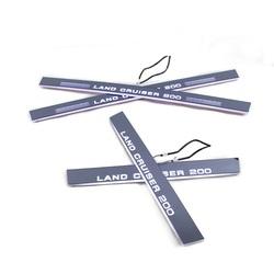 Диодные накладки на салонные пороги с анимацией lc200 (есть видео)