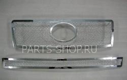 Накладка на решетку радиатора и бампера LC150 из нерж. (под камеру и нет)