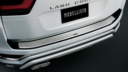 Накладка на задний бампер стиль modellista для lc300