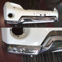 Накладка переднего бампера с led drl LC150, из 3-х частей