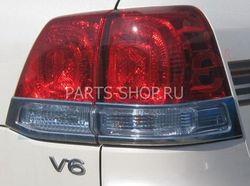 Хром накладки на задние фонари LC200 (по низу)