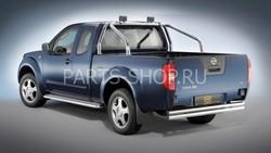 Защита заднего бампера двухтрубная 60 мм., нерж., King Cab+Double Cab 05-