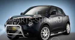 Защита переднего бампера Nissan Juke со светодиодной подсветкой