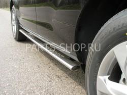 Пороги овальные с проступью Nissan Murano 2008-