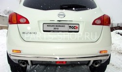 Защита заднего бампера Nissan Murano 2010-