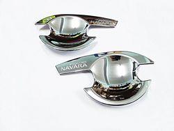 Накладки под ручки дверей navara 05-12, хромированные
