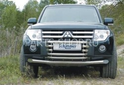 Защита переднего бампера 42мм Pajero 2007-