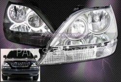 Оптика передняя на Lexus RX300 с ангельскими глазками