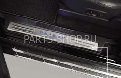 Накладки на пороги с подсветкой Pajero 2011-