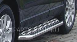 Пороги-ступени из нержавейки 60мм. на Lexus RX270-450h