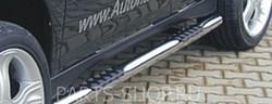 Пороги трубообразные с резиновыми вставками для ног RX400h (комплект)