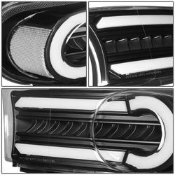 Поворотники FJ Cruiser диодные черные с ходовыми огнями