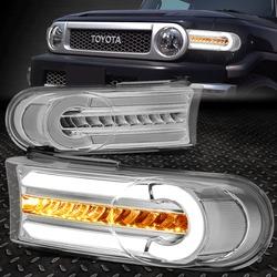 Поворотники FJ Cruiser диодные хром с ходовыми огнями
