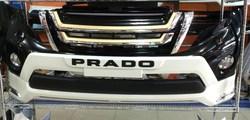 Накладка на передний бампер с логотипом prado