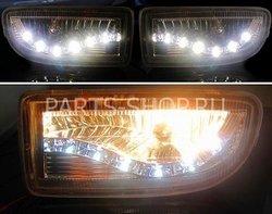 Противотуманки в передний бампер LC100 дизайн Audi (комплект)