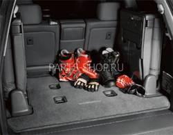 Коврик в багажник LC200 текстиль (темно-серый, беж.)