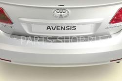 Накладка на задний бампер (хром) на Avensis 2009- седан