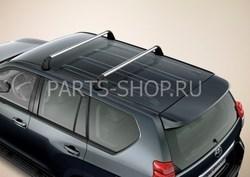 Поперечины на рейлинги Audi Q7 (к-т 2 шт.) с замком для защиты от кражи