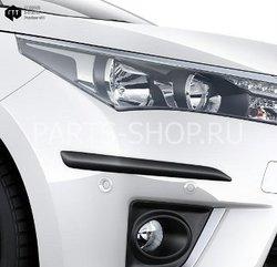 Комплект боковых накладок на передний и задний бампер Toyota Corolla 2013-