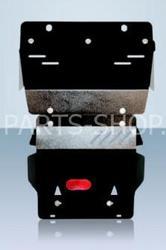 Защита картера и рулевых тяг LC120 (стальная)