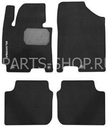 Коврики салона текстильные черные (комплект 4 шт.)