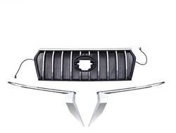 Решетка prado 150 с подсветкой (черная либо черн. с хромом) стиль MzSpeed