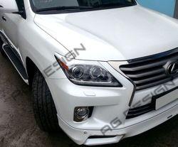 Реснички на фары lexus lx570 2012-