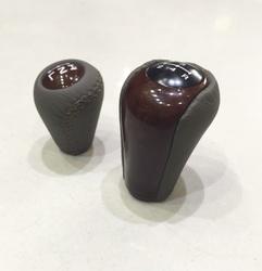 Ручки КПП на LC100 / Hilux Vigo 2005 для механики дерево+кожа (комплект)