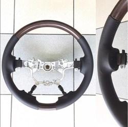 Руль lc200 16- черная или серая кожа с тёмным деревом
