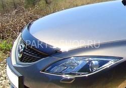 Дефлектор капота темный Mazda 6 2008-