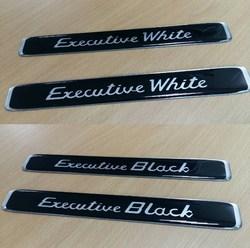 Эмблема Executive White, Black