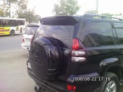 Футляр запасного колеса LC120 черный