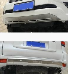 Защитные накладки на бампера prado 2018, с отверстиями под парктроники